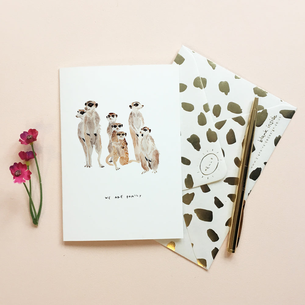 We are Family Meerkat Mother's Day Card