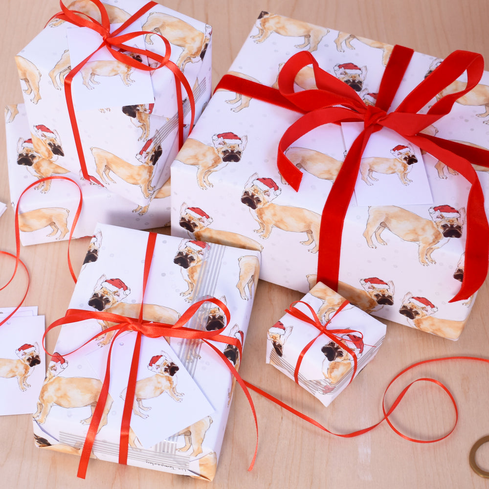 French Bulldog Recycled Wrapping Paper