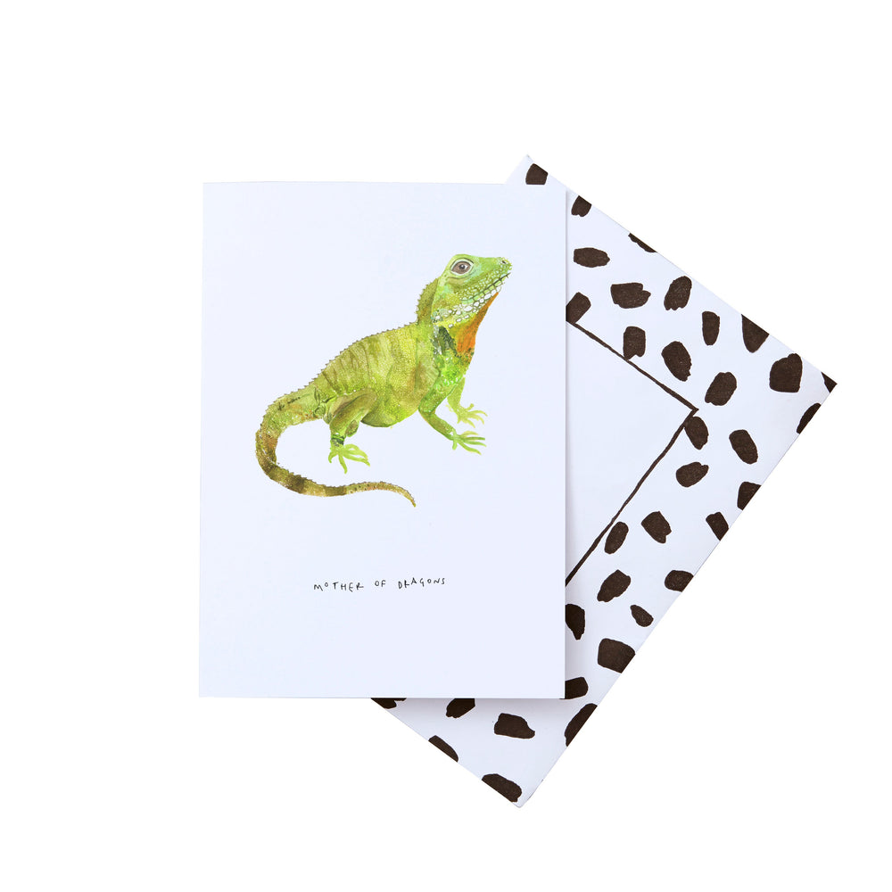 Mother of Dragons Bearded Lizard Mother's Day Card