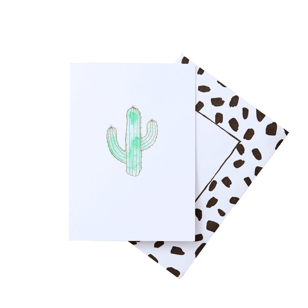 Cactus Gold Foil Greeting Card