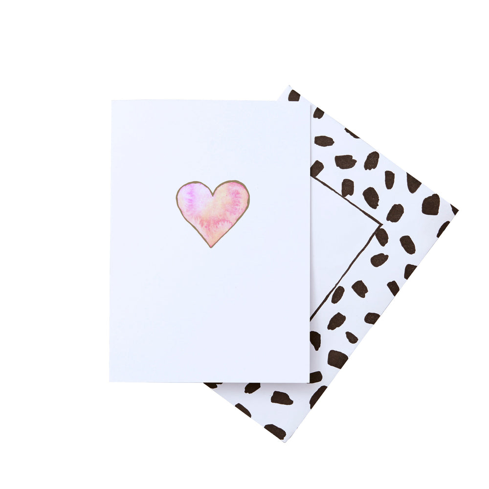 Heart Gold Foil Greeting Card