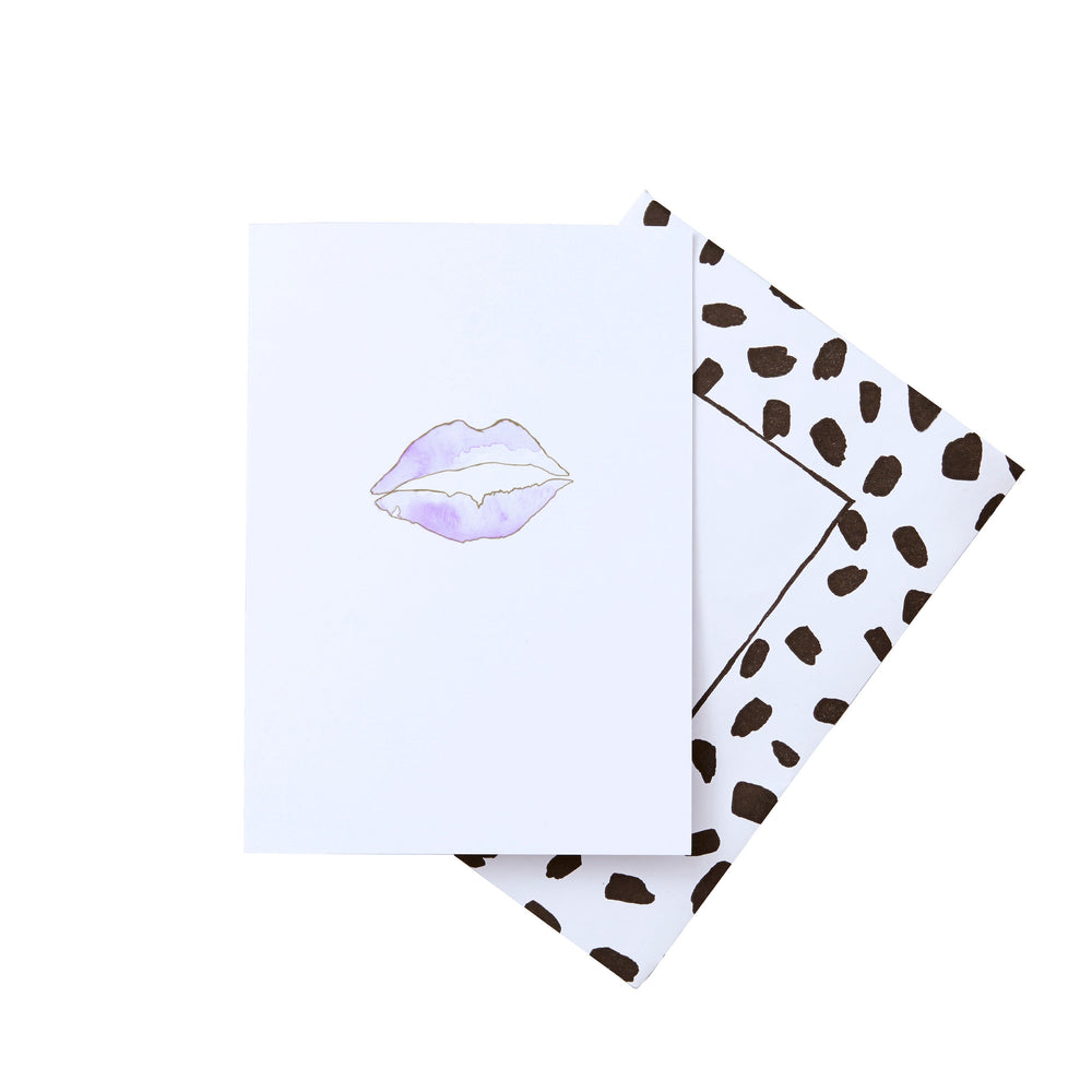Lips Gold foil greeting card