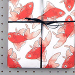 Goldfish Eco Wrapping Paper