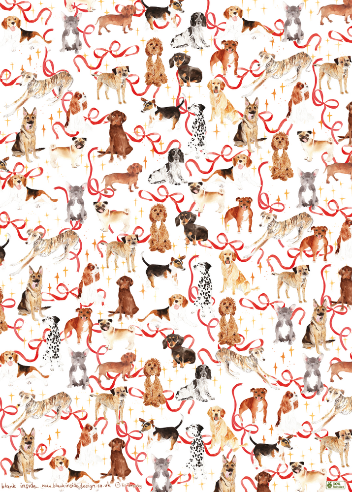 Dog Breed Eco-Friendly Recycled Wrapping Paper