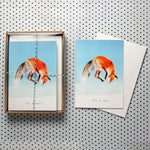 """Let it Snow"" Jumping Fox Christmas Card Boxed set of eight"