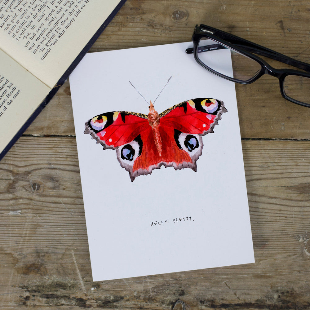 Hello Pretty Butterfly Greetings Card