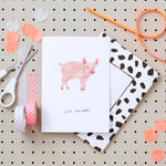 """I got you babe"" Pig Valentines Card"