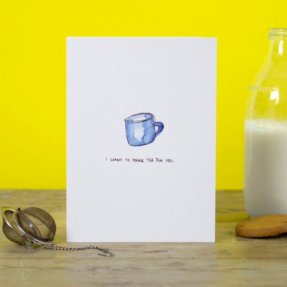 Tea for you Greetings card