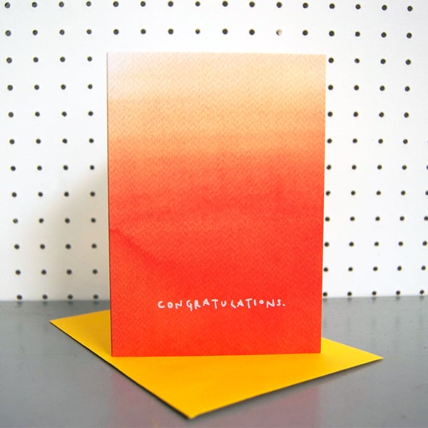 Orange Ombre Congratulations Greetings Card