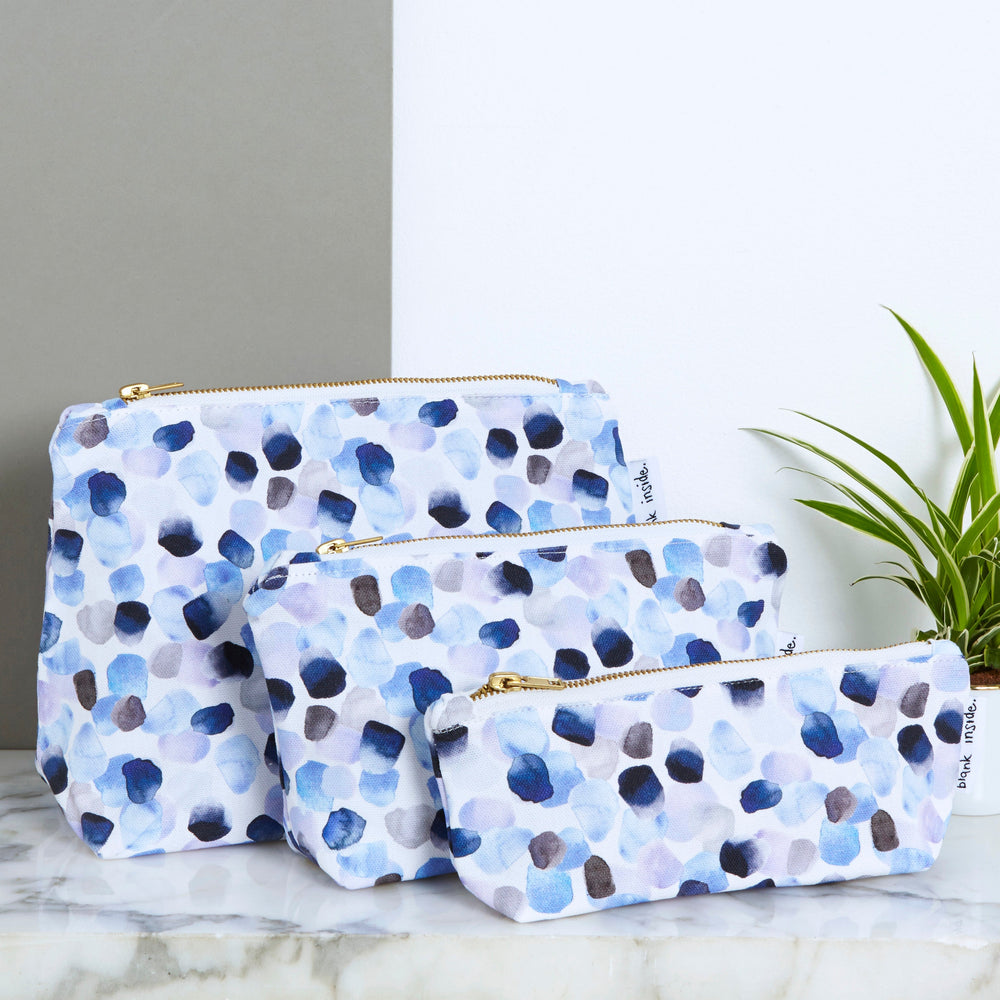 Petals Blue Wash Bag