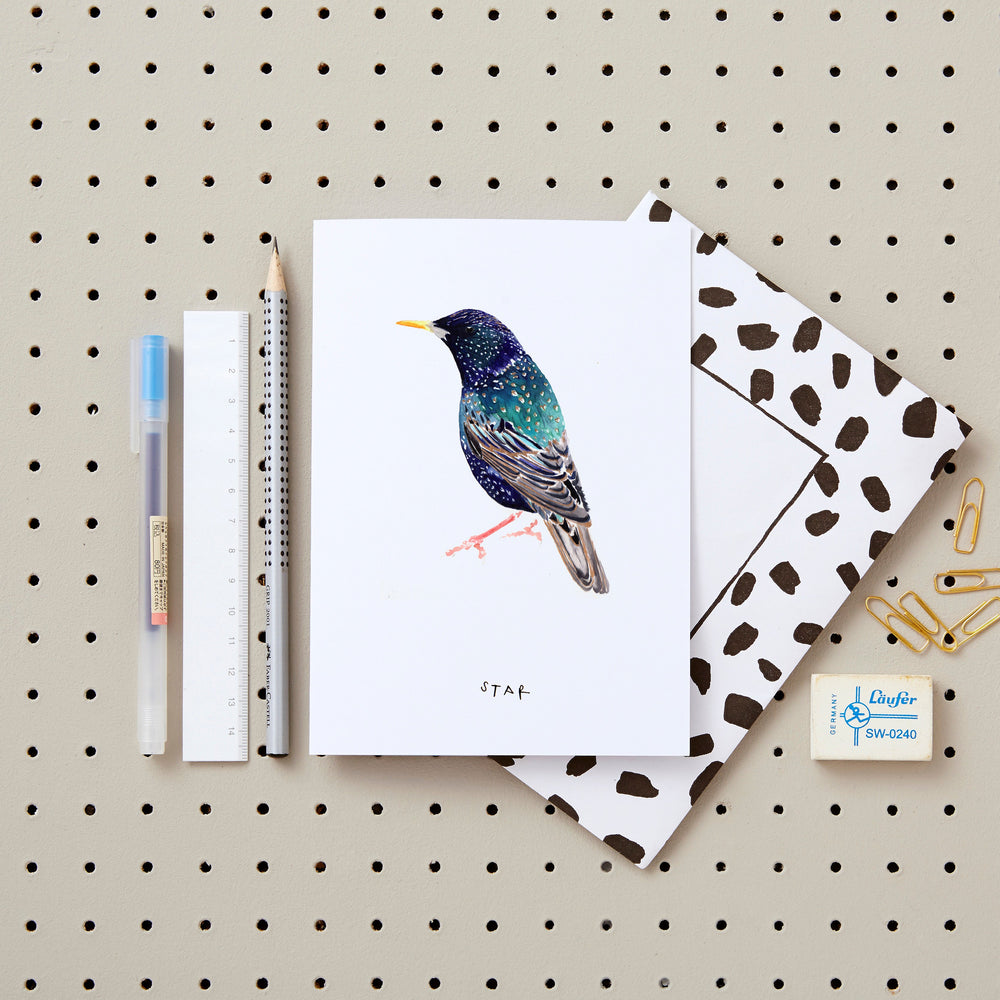 Starling Greetings Card