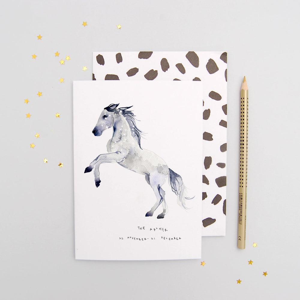 The Archer Sagittarius Zodiac Greetings Card