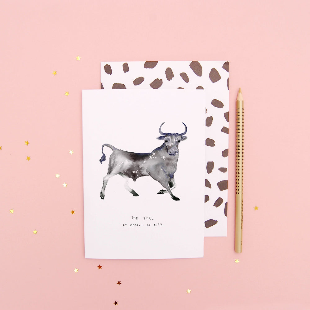 The Bull Taurus Zodiac Greetings Card