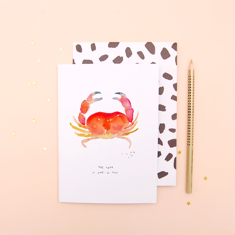 The Crab Cancer Zodiac Greetings Card