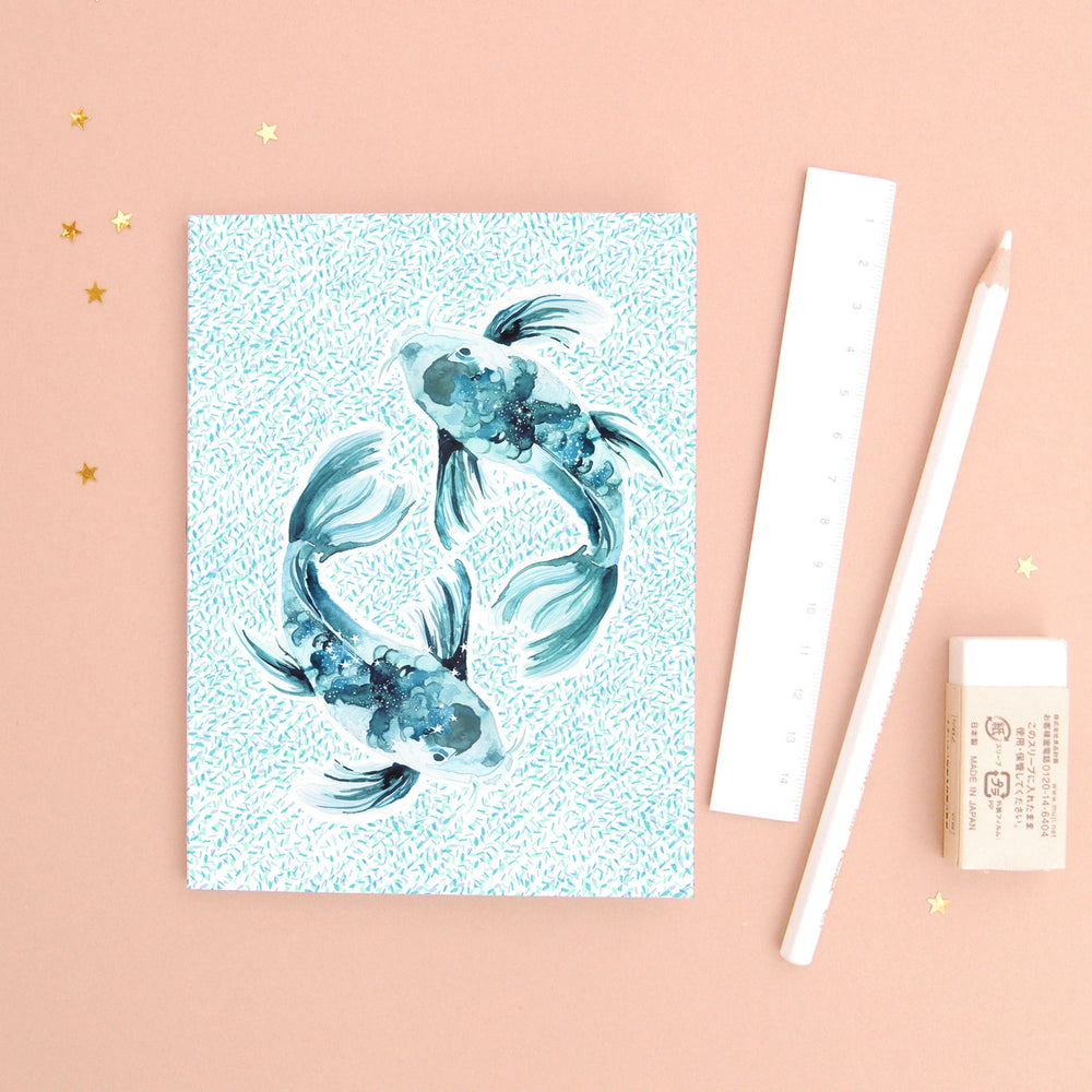 The Fish Pisces Zodiac - Recycled Paper Notebook