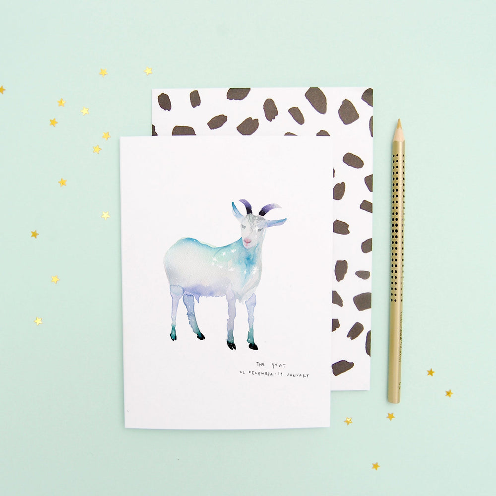 The Goat Capricorn Greetings Card