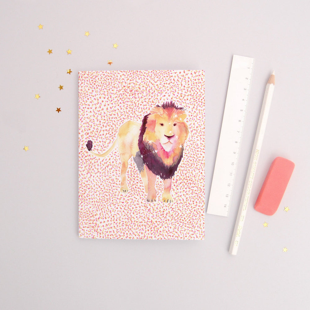 The Lion Leo Zodiac - Recycled Paper Notebook