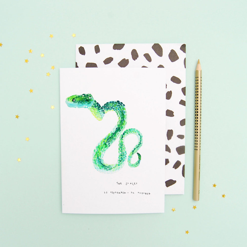 The Scales Libra Zodiac - Recycled Paper Notebook