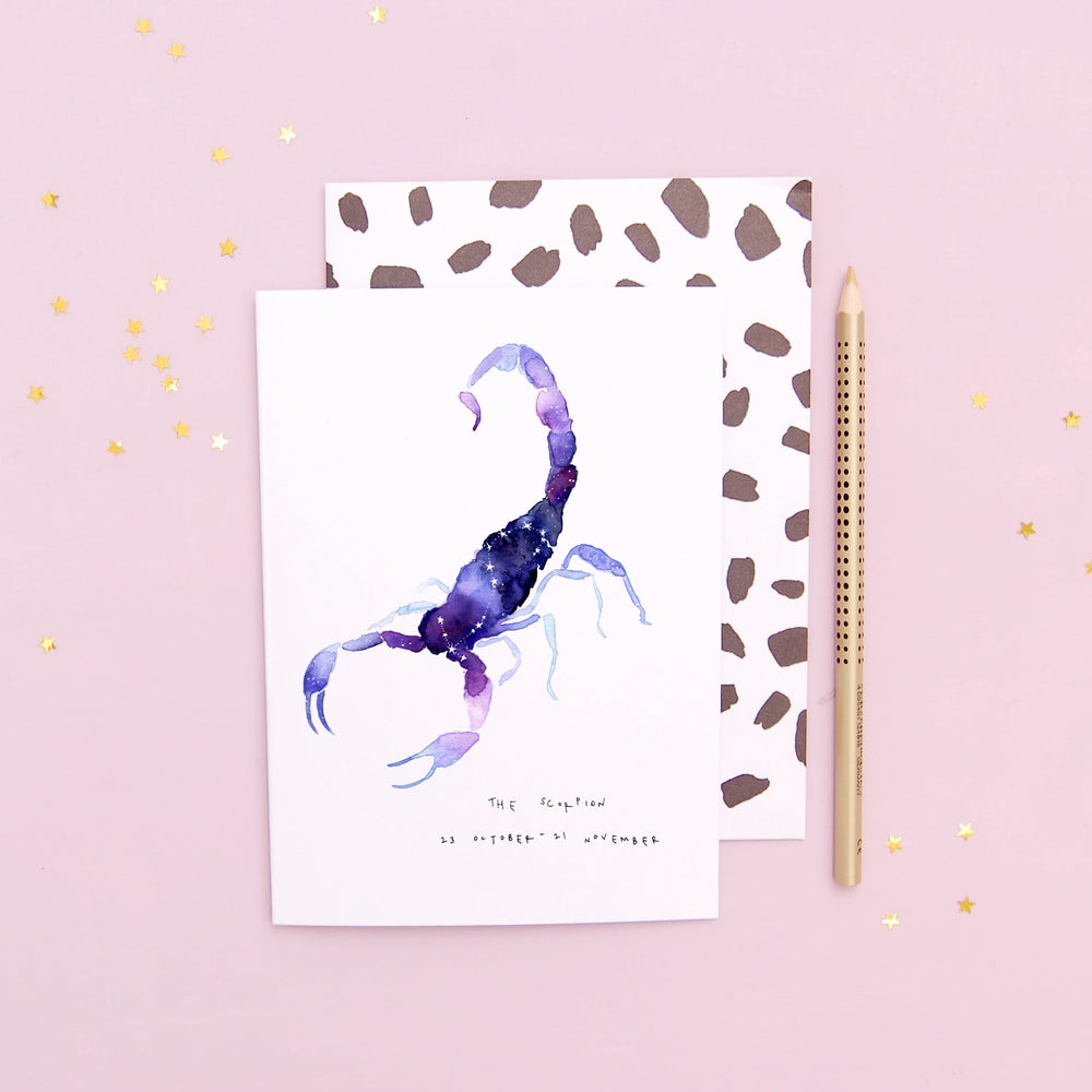 The Scorpion Scorpio Zodiac Greetings Card