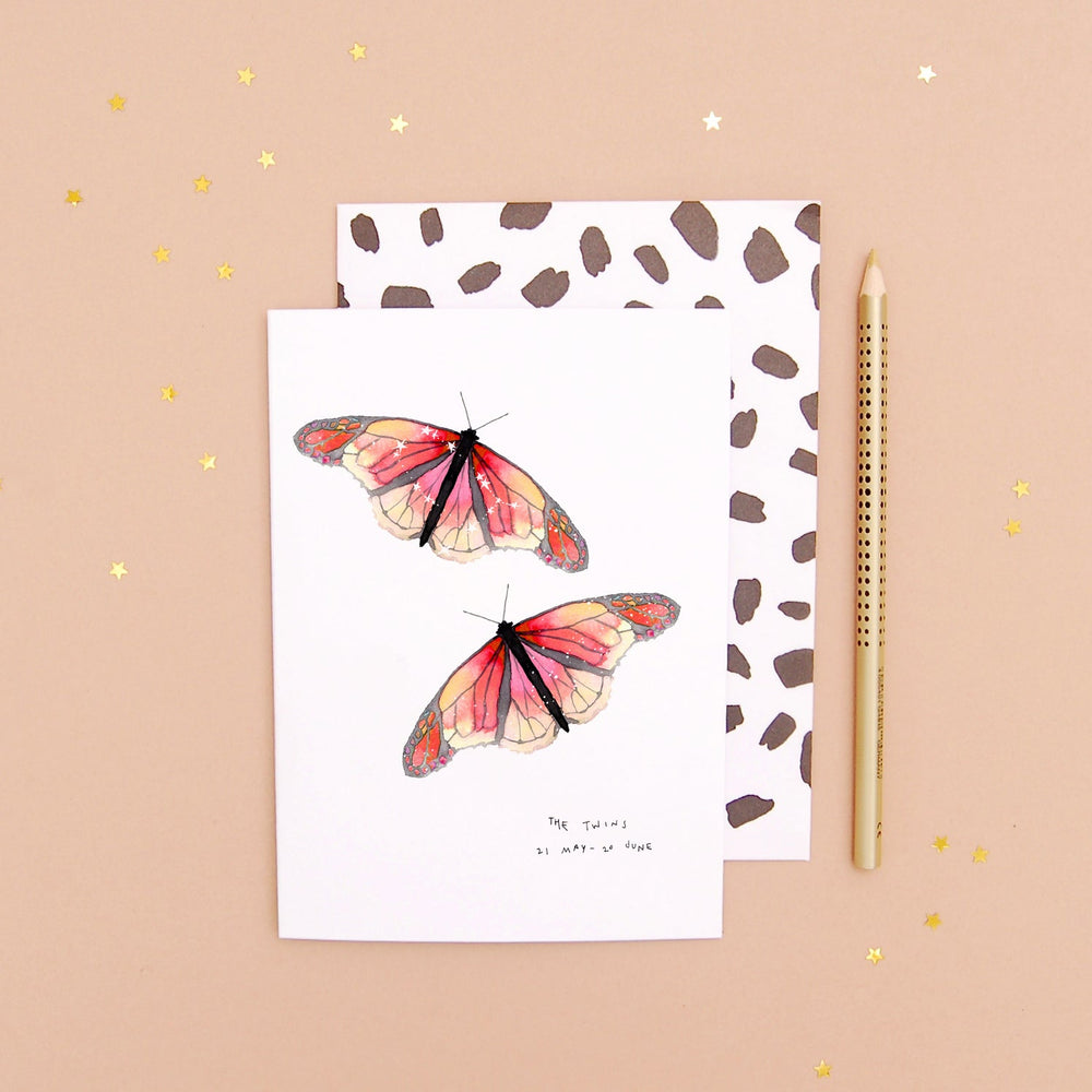 The Twins Gemini Zodiac - Recycled Paper Notebook