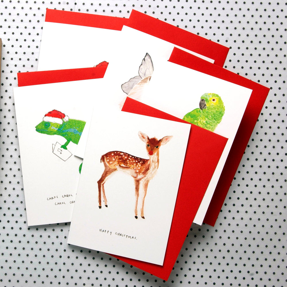 Mixed box of Christmas Cards - Pack of 8