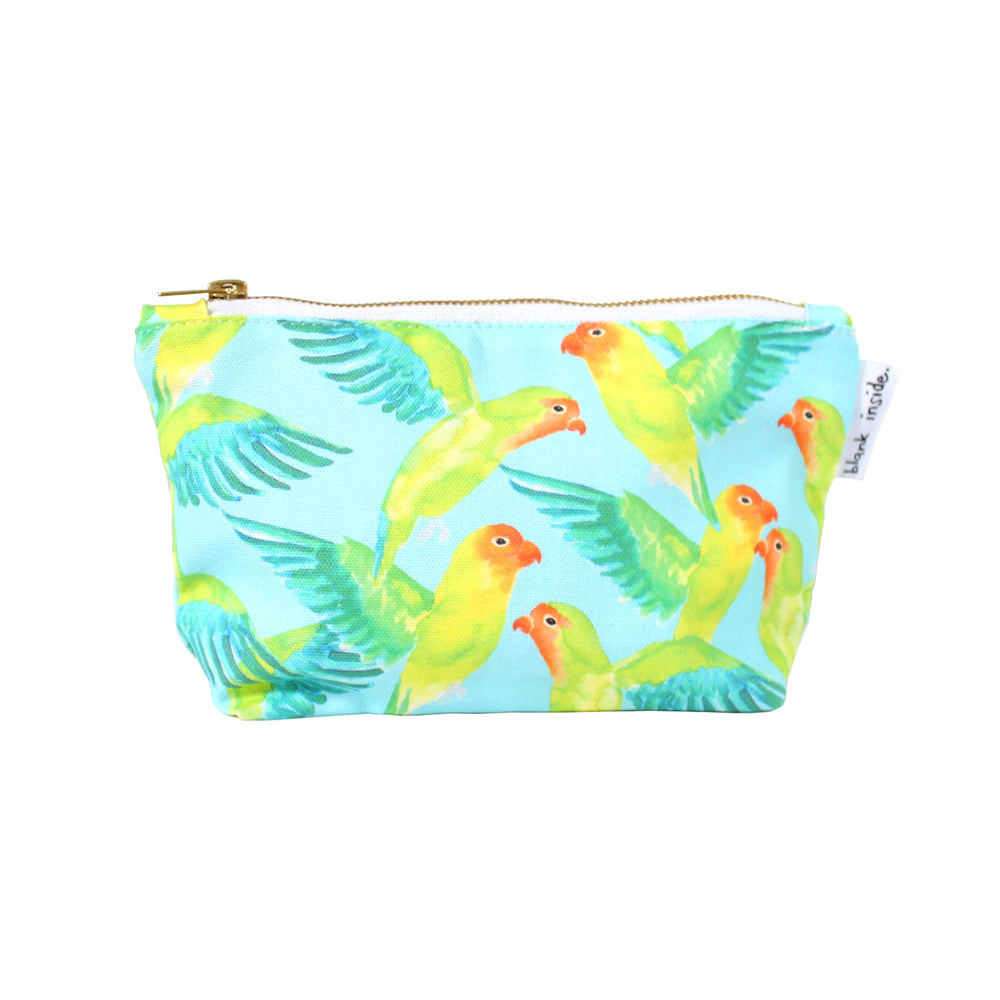 Love Birds Small Cosmetic Bag