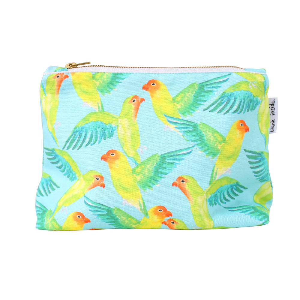 Love Birds Large Cosmetic Bag