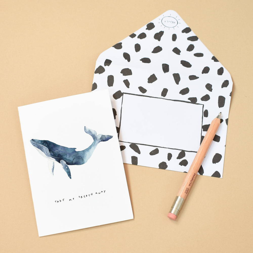 Take my breath away Whale Greeting Card