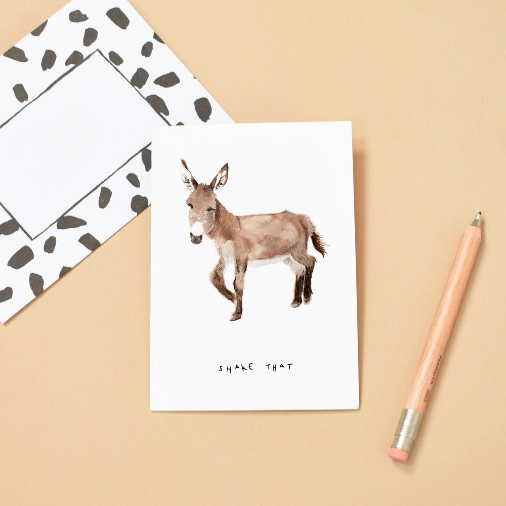 Shake That Donkey Greeting Card