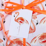 Flamingo Eco Recycled Gift Tags