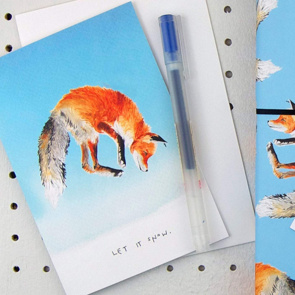 Let it Snow Fox Christmas Card
