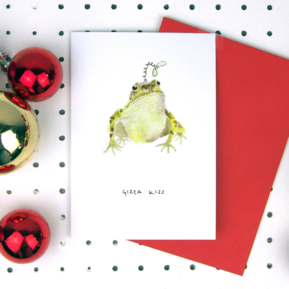 Gizza Kiss Frog Christmas Card