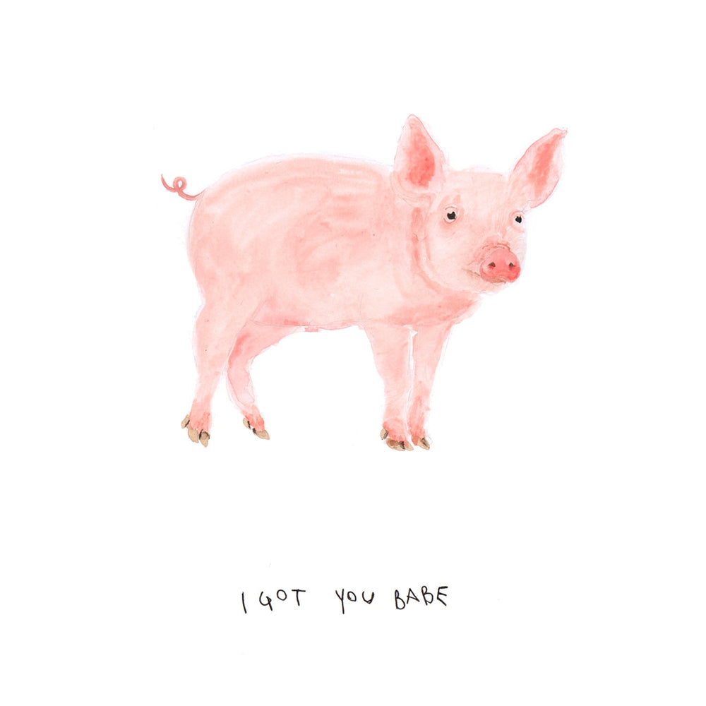 I got you babe Pig Art Print
