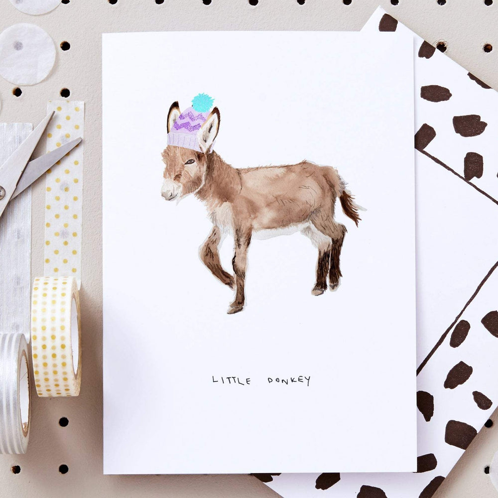 Little Donkey Christmas Card