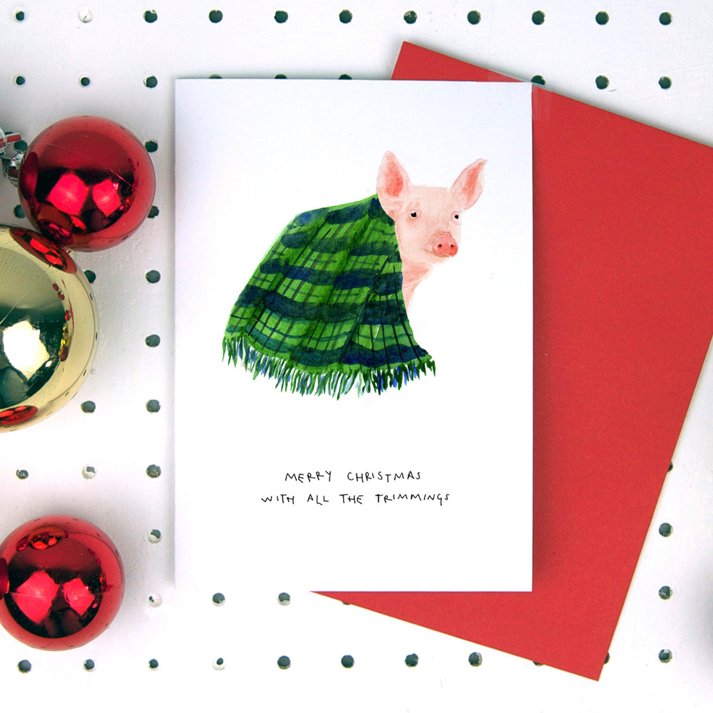 Merry Christmas Pigs in Blankets Card