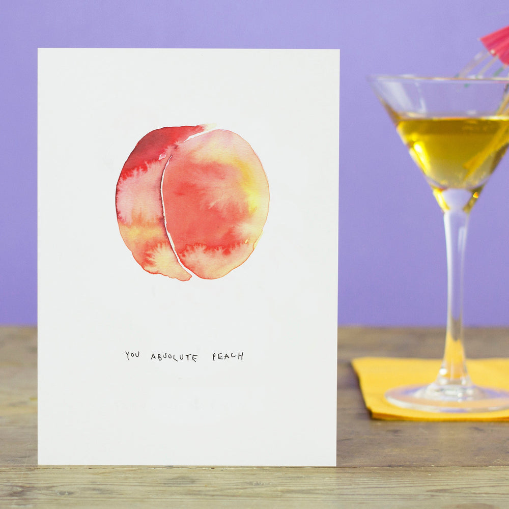 You absolute Peach Greetings Card