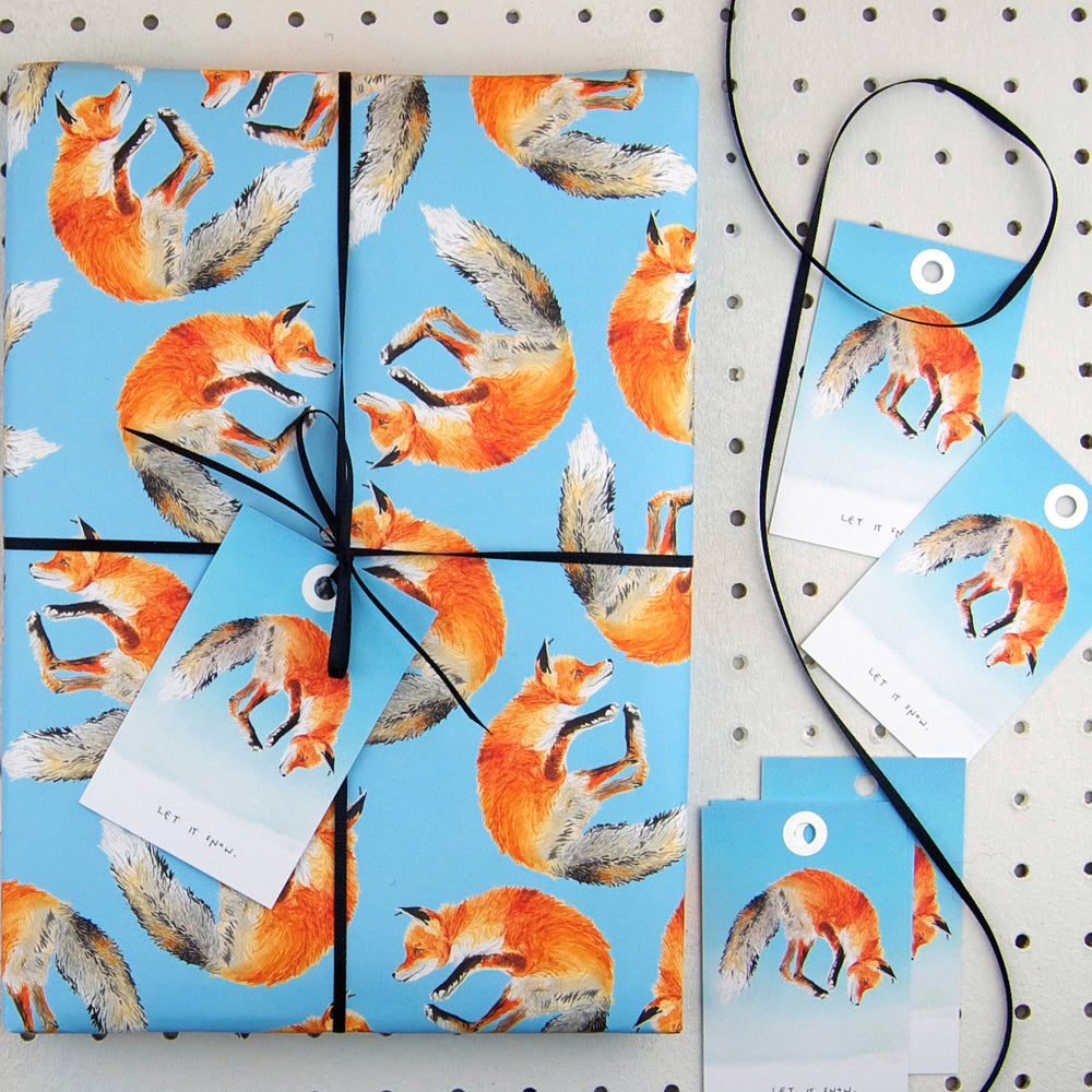 Jumping Fox Eco Recycled Wrapping Paper