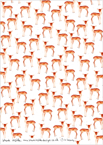 Fawn In The Snow Eco-Friendly Recycled Wrapping Paper