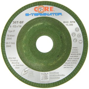 Stainless Steel - Grinding Wheel 4.5 x 3/16 x 7/8 - 25PK
