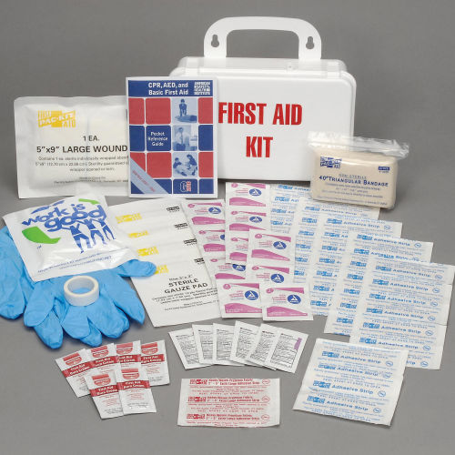First Aid Kit, 25-Person, Plastic