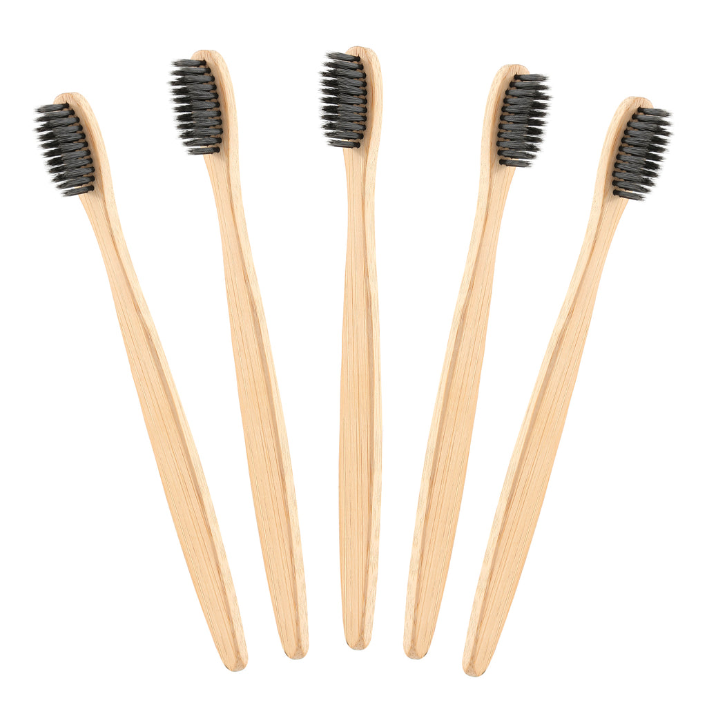 Charcoal Infused Bamboo Toothbrush, Natural Products, Eco-friendly