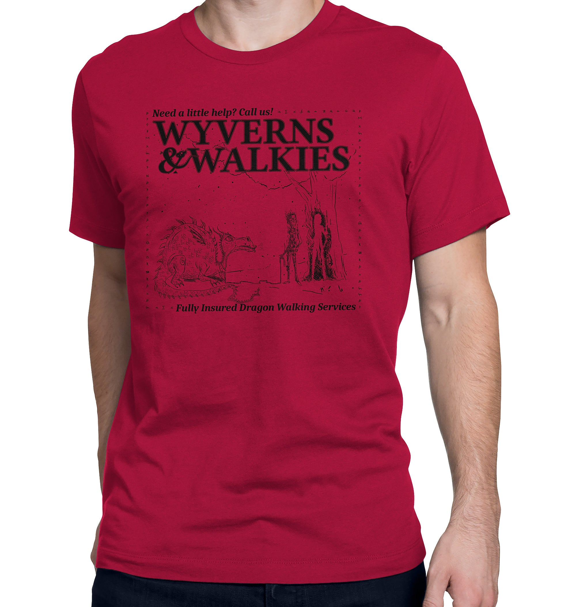 Wyverns and Walkies Dragon Walking Service T-Shirt