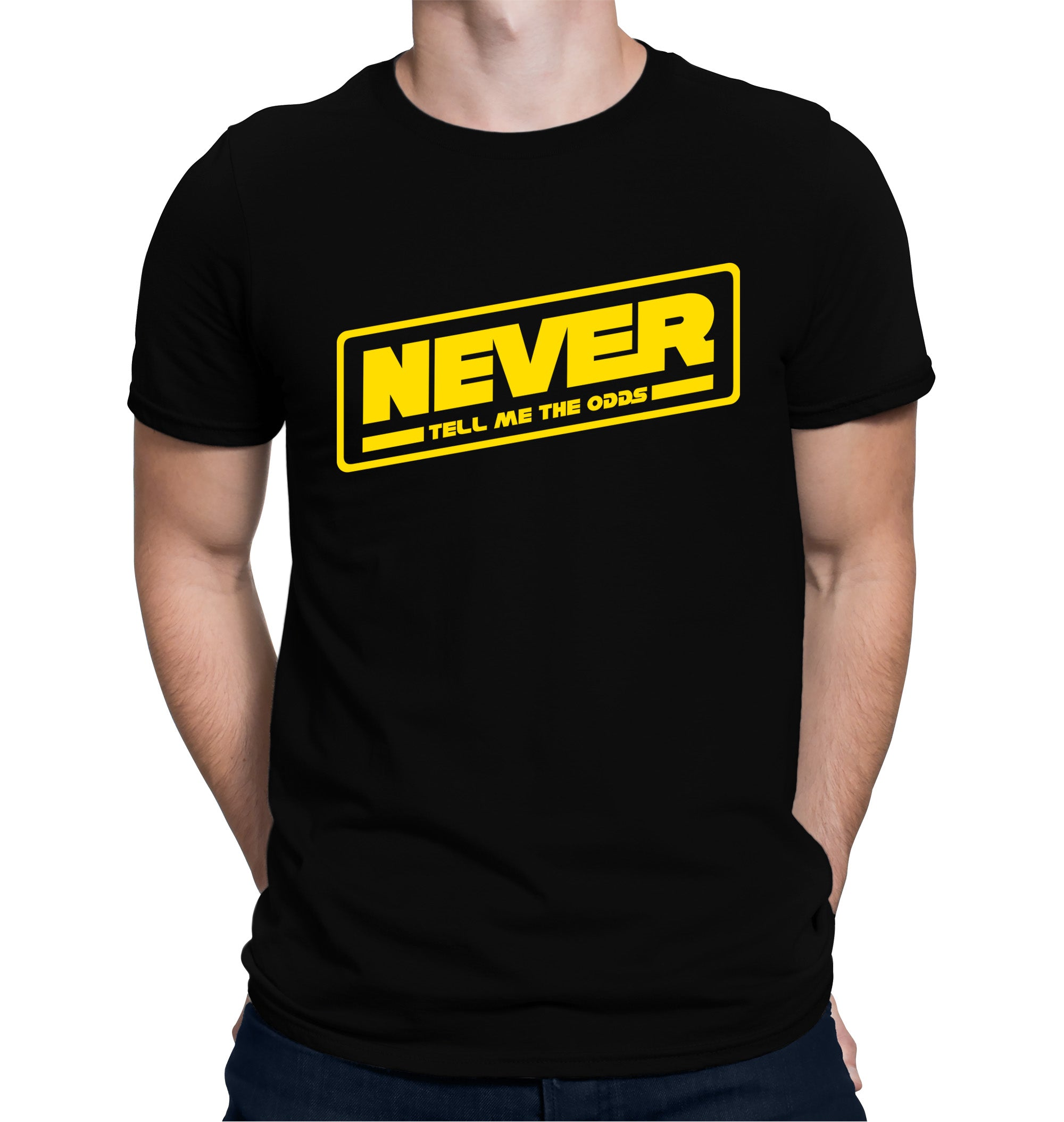 Never Tell Me the Odds T-Shirt on Model