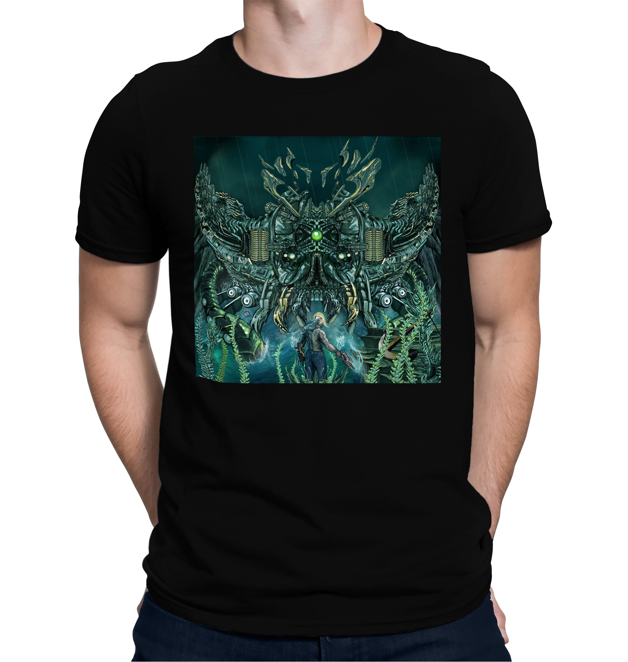 Underwater Skull Robot Battle T-Shirt