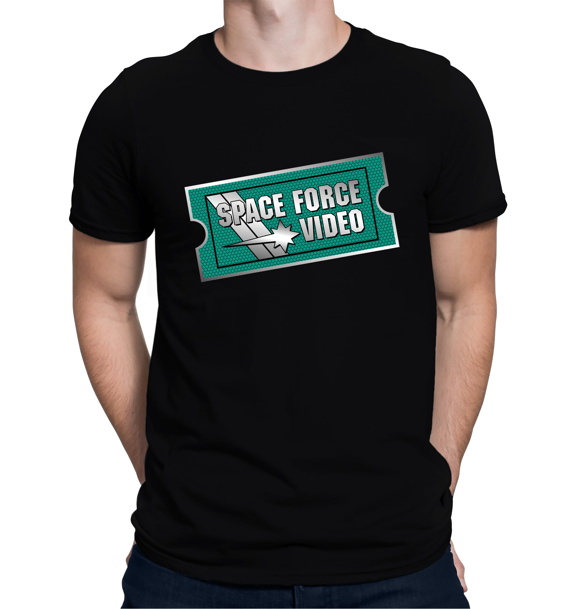 Space Force Video T-Shirt on Model