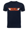 Top Gun Rebel Pilot T-Shirt on Navy T-Shirt