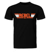 Top Gun Rebel Pilot T-Shirt on Black T-Shirt