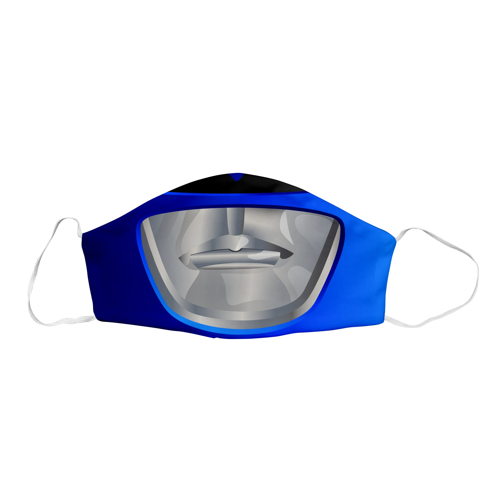 Blue Sentai Ranger Face Mask
