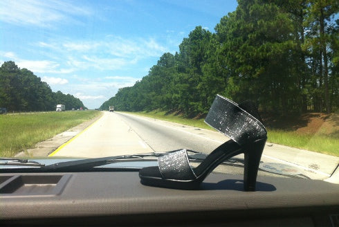 Charleston Shoe Co Telfair Heel in Silver