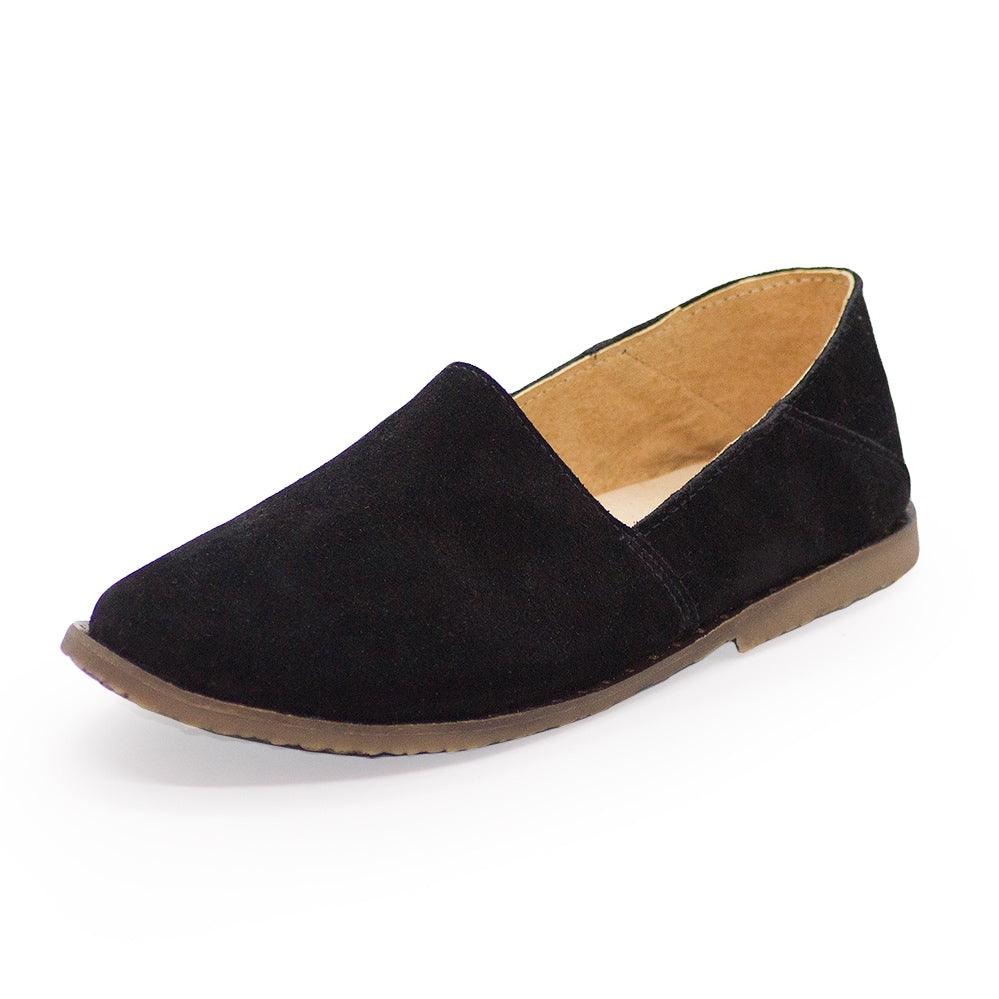 black closed toe shoes, black sued loafer | Charleston Shoe Company